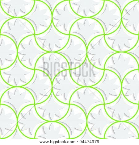 3D Pin Will Grid With Solid Floral Leaves