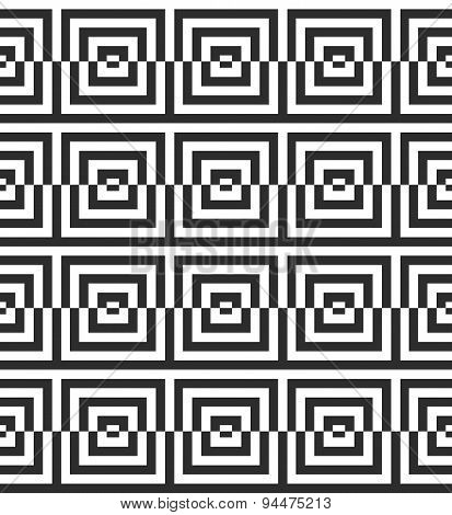 Alternating Black And White Cut Squares