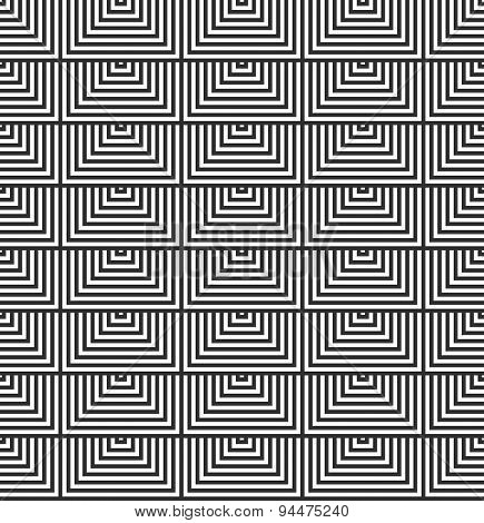 Alternating Black And White Half Squares