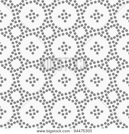 Dotted Circles And Small Crosses