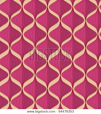 Retro Fold Magenta Chinese Lanterns