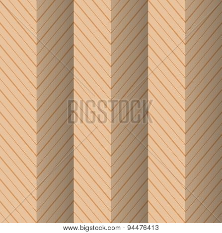 Retro Fold Yellowish Striped Zigzag