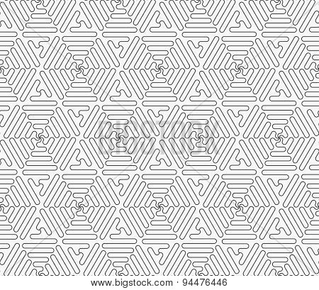 Slim Gray Connecting Wavy Triangles