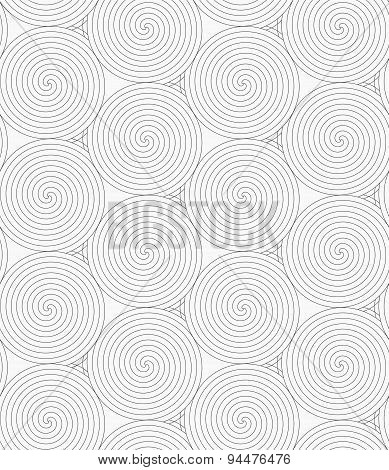 Slim Gray Merging Spirals With Crossed Triangles