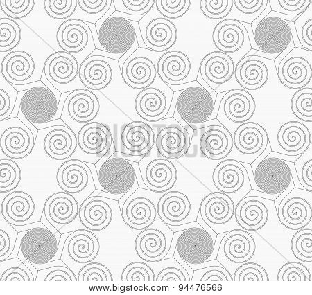 Slim Gray Small Striped Spirals Forming Flowers