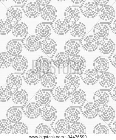 Slim Gray Small Striped Spirals Three Turn