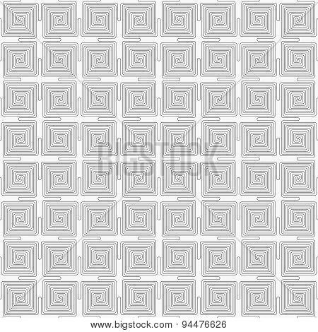 Slim Gray Square Connecting Spirals