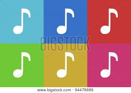 music vector flat web icons set  original modern design for web and mobile app