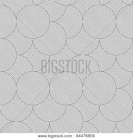 Slim Gray Striped Overlapped Circles Random
