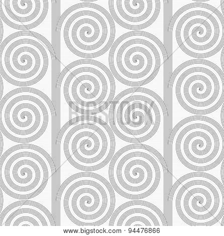 Slim Gray Striped Spirals Forming Tree