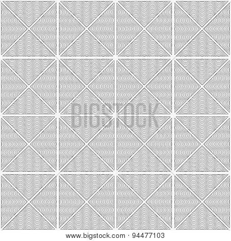Slim Gray Wavy Striped Triangles In Row