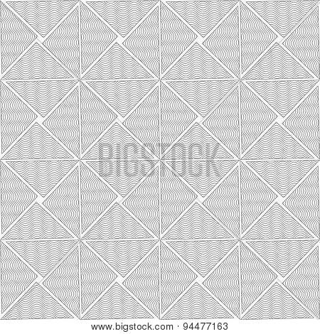 Slim Gray Wavy Striped Triangles