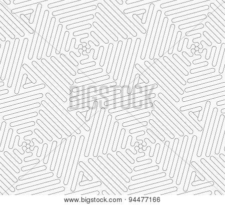 Slim Gray Wavy Triangles Forming Hexagons