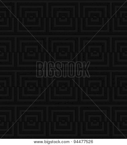 Textured Black Plastic Cut Squares