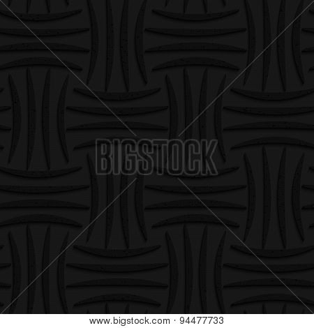 Textured Black Plastic Four Stripes Pin Will