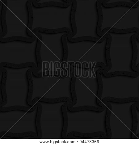 Textured Black Plastic Spool Shape Grid