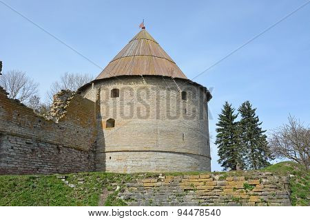Royal Tower Of The Fortress At Shlisselburg City. Fortress Called Oreshek (nut Fortress)