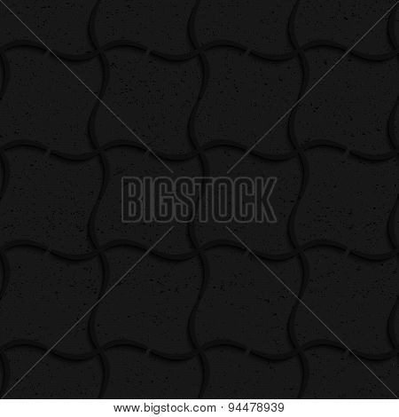 Textured Black Plastic Wavy Grid