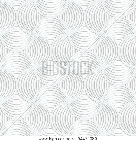 White Paper 3D Slim Stripes Small Circle Pin Will