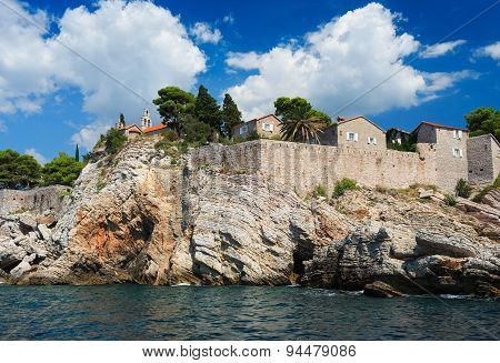 Island Of Sveti Stefan, Montenegro, Balkans, Adriatic Sea, Europe