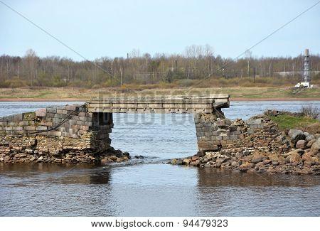 Stony Bridge At The Shlisselburg City, Russia