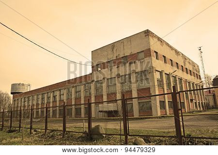 Factory Building At The Shlisselburg City, Russia