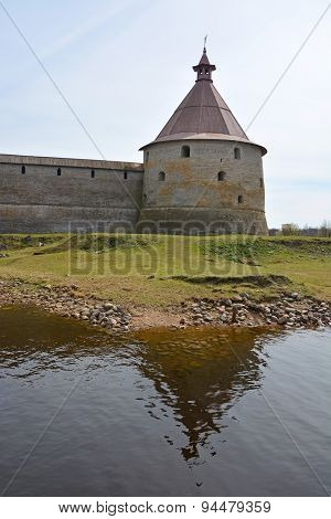 Golovina Tower Of The Fortress At Shlisselburg City. Fortress Called Oreshek (nut Fortress)
