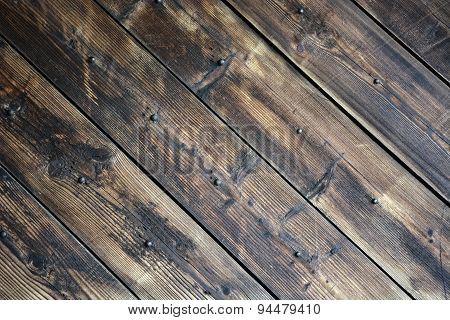 Old Black Rustic Wood. Picture Can Be Used As A Background