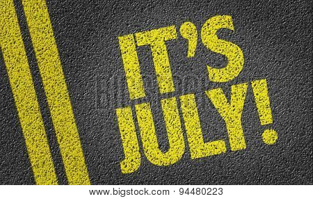 Its July written on the road