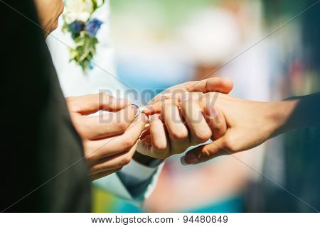 Putting The Ring On Her Finger