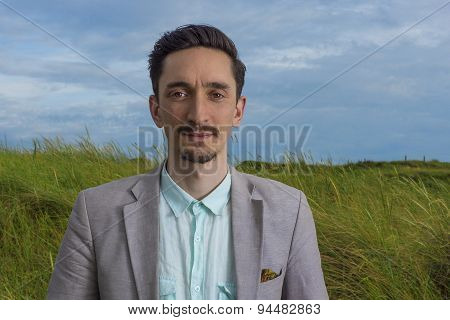 Portrait Of A Handsome Man Outdoors