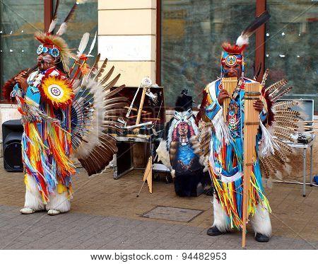 Indian street concert.