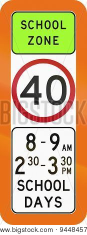 School Zone Speed Limit In Australia