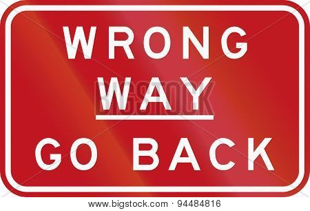 Wrong Way - Go Back In Australia