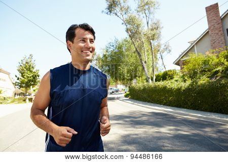 Man out for a run