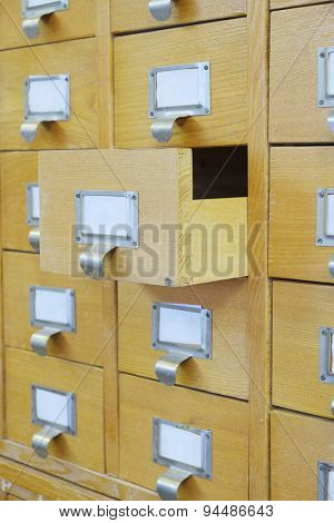 Catalog boxes in library