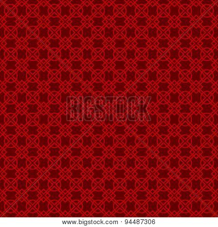 Seamless vintage Chinese window tracery diamond check flower pattern background.