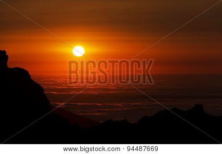 Alpine sunset light in Madeira Island, Portugal, Europe