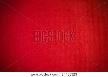 Light Fabric Texture Red Background