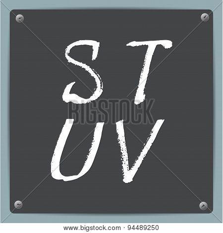 Vector  hand-draw alphabet