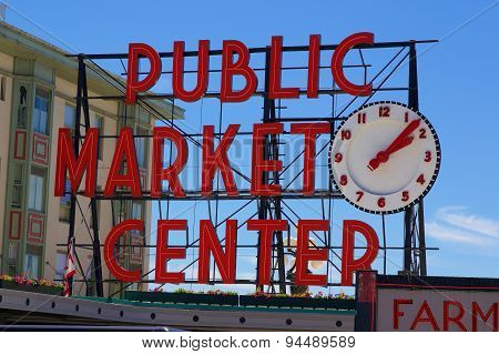 Pike Place Public Market Center Sign