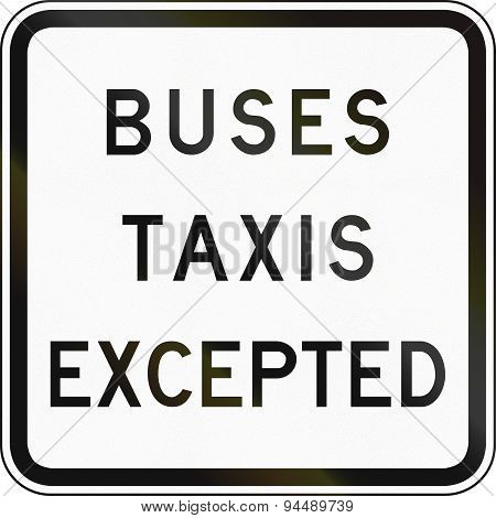 Buses And Taxis Excepted In Australia