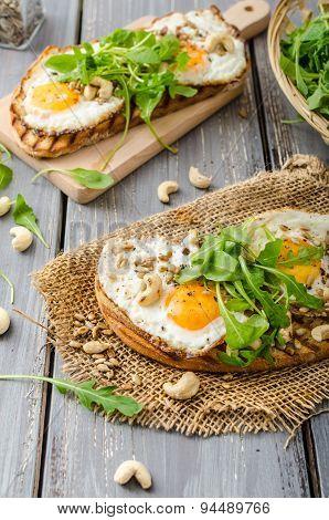 Village Bread, Fried Eggs