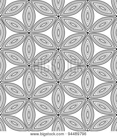 Vector seamless pattern. Repeating floral texture