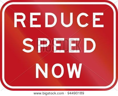 Reduce Speed Now In Australia