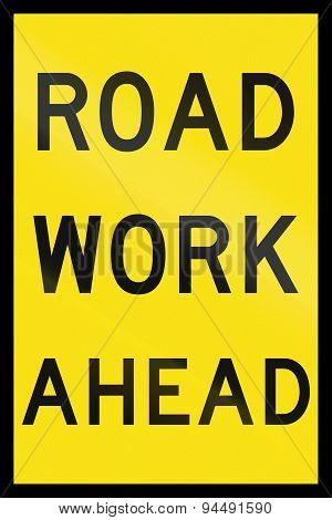 Road Work Ahead In Australia