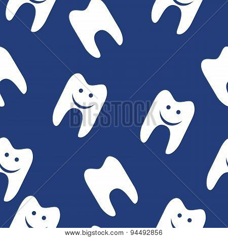 Tooth  seamless pattern for web design. Vector symbol