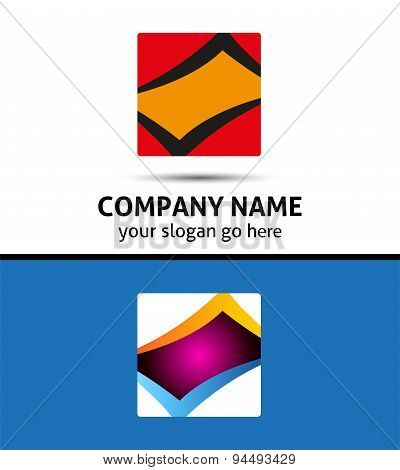 Rectangular logo and Square Abstract Icon
