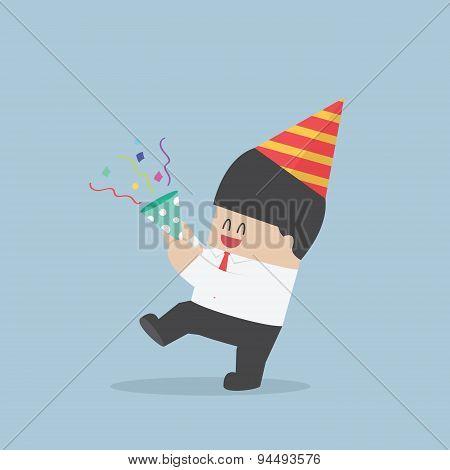 Businessman Happy In Celebration Party