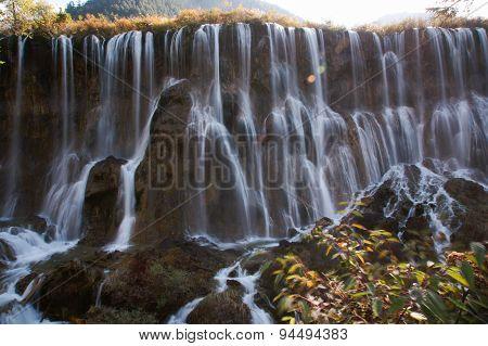 Waterfall in Jiuzhaigou, Sichuan, China